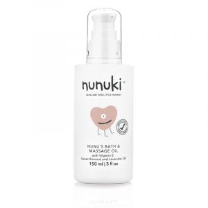 Nunu's Hydrating Bath and Massage Oil For Baby's Gentle Skin.
