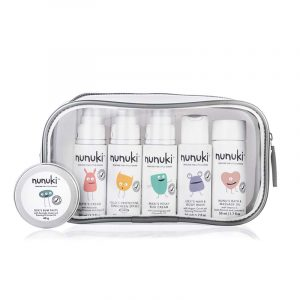 Nunuki Skincare For Little Humans. Travel Size Baby Products. Perfect For Hospital Bag.