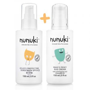 Skincare For Little Humans. Summer Bundle Including Sunscreen And Mosquito And Bug Repellent